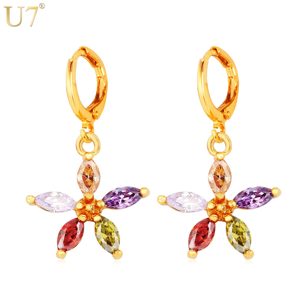 Minnie Mouse Stud Earrings Walmart Source · U7 Colorful Star Drop  Earrings Fashion Jewelry For Women Trendy 18k Real Gold Platinum Plated  Cubic