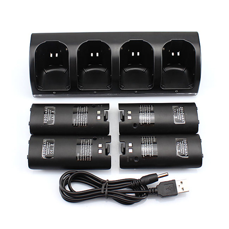 все цены на Free & Drop Shipping! Hot Sale Black 4x Rechargeable Battery + Quad 4 Charger Dock Station Kit for Wii Remote Controller онлайн
