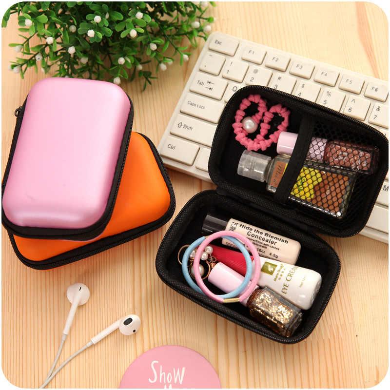 Mini Dompet Koin Tas Perjalanan Ponsel Digital Kotak Penyimpanan USB Flash Drive Kabel Data Kunci Earphone Power Bluetooth Finishing tas