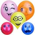 """10 """"11 Colores 50 unids Impreso Grandes Ojos Smiley Feliz Fiesta de Cumpleaños de Globos Decoración de la Boda Globos de Aire De Látex Inflable bolas"""