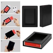 Magic Casedeck Menghilang Menghilang Magic Card Case Close Up Trik Sulap Box Fun Poker Menghilang Case 9.4*7*1.9 CM(China)
