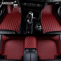 KADULEE Auto auto boden Fuß matte Für jaguar xf xj F-PACE XJL F-TYPE XK XFL XEL auto zubehör wasserdichte styling machen Benutzerdefinierte