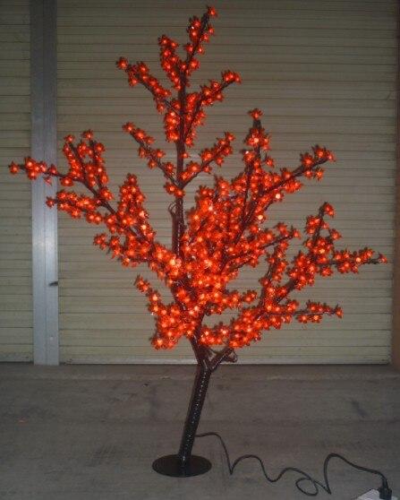Free ship Christmas wedding Decor LED Cherry Blossom Tree Light 576 pcs LED Bulbs 1.5m Height 110/220VAC Rainproof Outdoor Usage