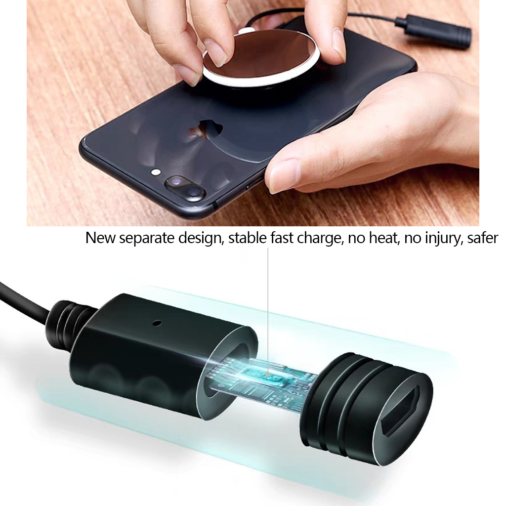 10W Suction Cup Wireless Charger For IPhone XR XS Max Portable Fast Wireless Charging Pad For Samsung Note 9 8 S9 S8 in Mobile Phone Chargers from Cellphones Telecommunications