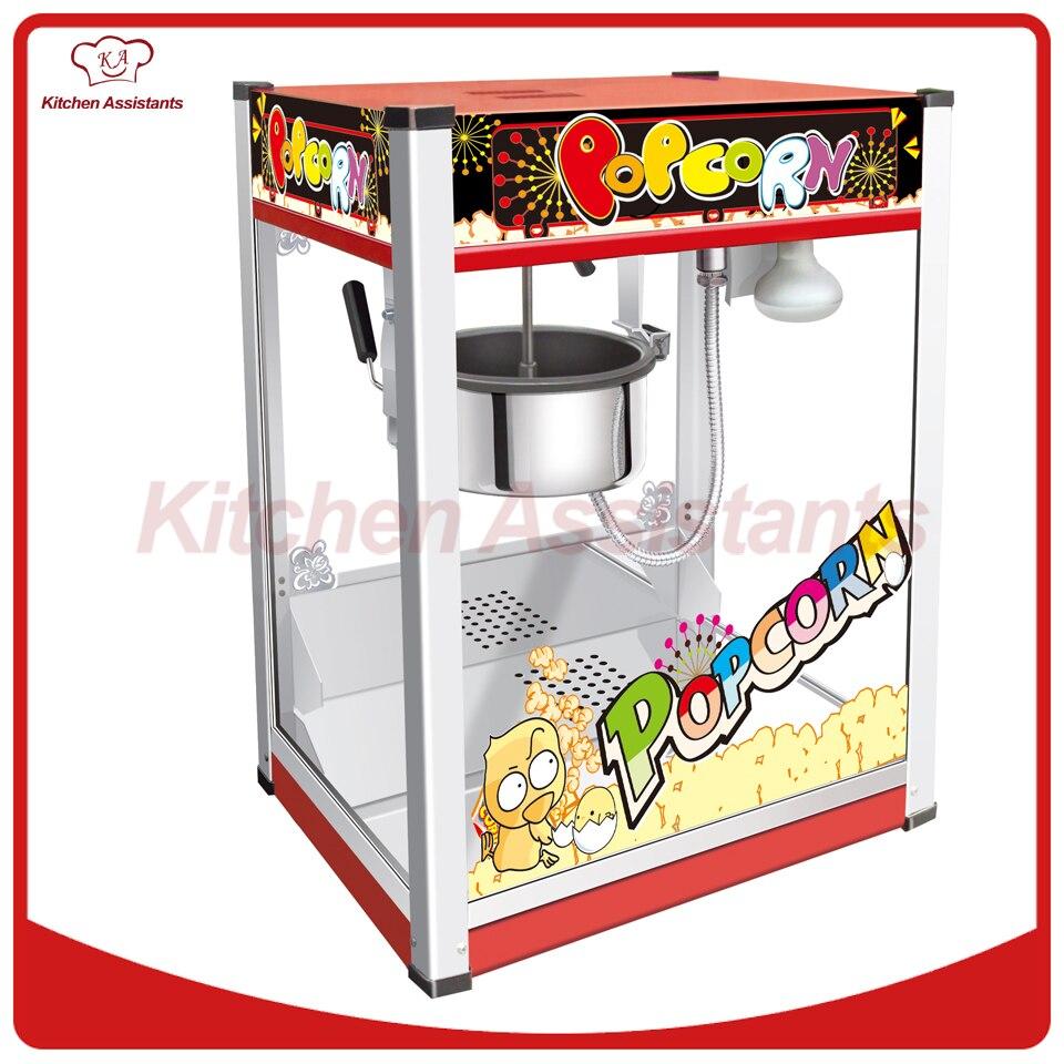 VBG1708 Professional automatic popcorn machine maker with big volume 8oz series pop 06 economic popcorn maker commercial popcorn machine with cart