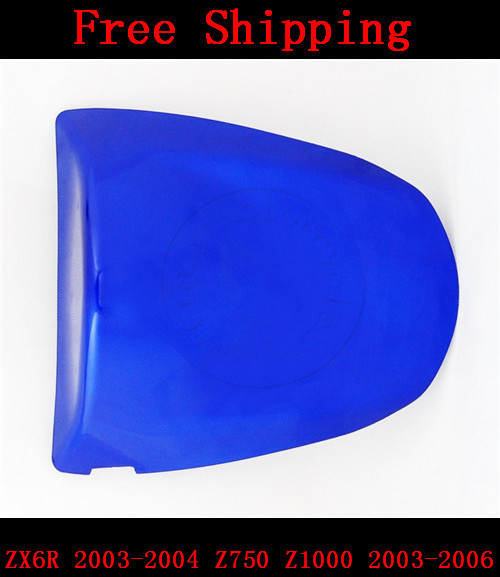 For Kawasaki ZX6R 2003-2004 Z750 Z1000 2003-2006 motorbike seat cover Brand New Motorcycle Blue fairing rear sear cowl cover for suzuki gsxr1000 2003 2004 k3 motorbike seat cover brand new gsx r 1000 motorcycle blue fairing rear sear cowl cover