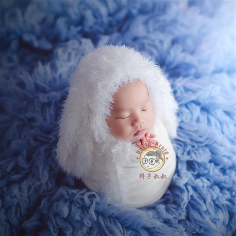 Us 135 0 Newborn Baby Flokati Rug Blanket Backdrop Swaddle Background Photography Props Layer Fabric Photo In Receiving Blankets