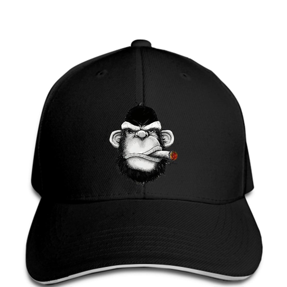 Men Baseball cap Gorilla Smoking Cigar fashion For funny Hat novelty  tsnapback women1 7f84b71a621a