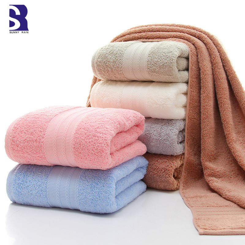 SunnyRain 1-Piece Egyptian Cotton Bath Towel For Adult Large Bath Towel GMS 550G 90x180 70x140cm Water-absorbent toallas
