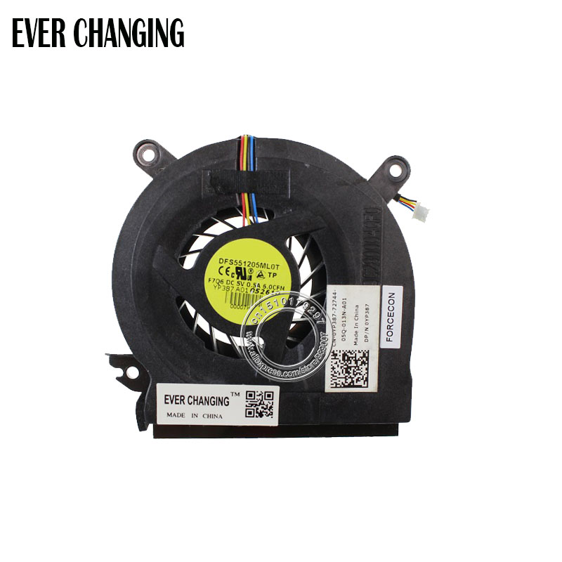 Brand New And Original CPU Cooling Fan For Dell Latitude E6500 Precision M4400 Laptop Fan , DFS551205ML0T F7Q6 0YP387