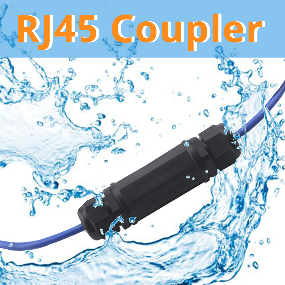 RJ45 Waterproof Connector IP67 Ethernet Network Cable Connector Double Head Outdoor Lan Coupler Adapter Female Cat5 6 7 8P8C