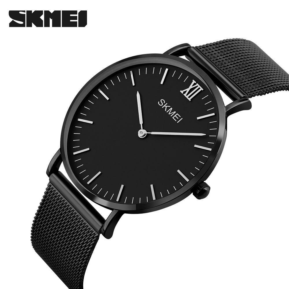 SKMEI Luxury Brand Men Watch Ultra Thin Stainless Steel Clock Male Quartz Sport Watch Waterproof Casual Wristwatch Relogio 1181 luxury brand watches men quartz clock wach ultra thin stainless steel mesh strap gold wristwatch box waterproof sport watch men