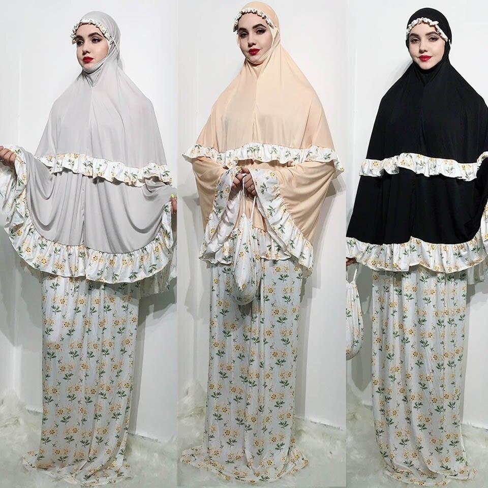 Muslim print abaya praying hijab dress playful and cute dubai turkish abayas bat sleeve kaftan kimono ramadan islamic clothing