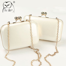 UKQLING Brand Candy Color Bag Women Quilted Clutch Box Ladies Mini Chain Clutches Messenger Bag Party Evening Phone Clip Package(China)