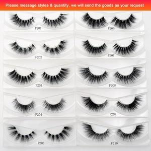 Image 3 - Visofree 25 pairs/lot Mink Eyelashes Invisible Band Lashes Natural Full Strip Transparent band lashes 3D Lashes cilios posticos