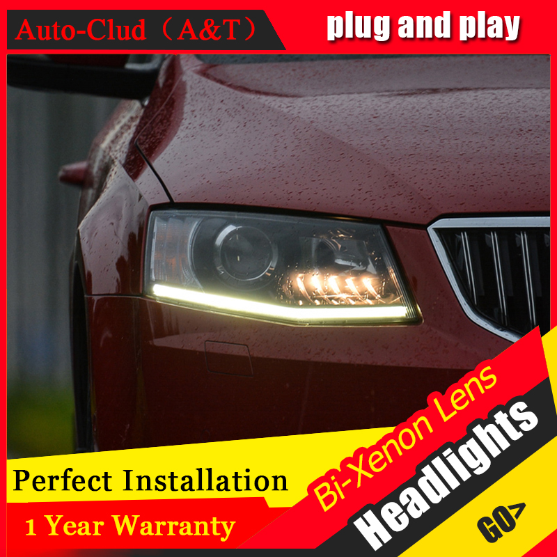 Car Styling For Skoda Octavia led headlight For Skoda Octavi head lamp Angel eye front light Bi-Xenon Lens xenon HID KIT car styling for chevrolet trax led headlights for trax head lamp angel eye led front light bi xenon lens xenon hid kit