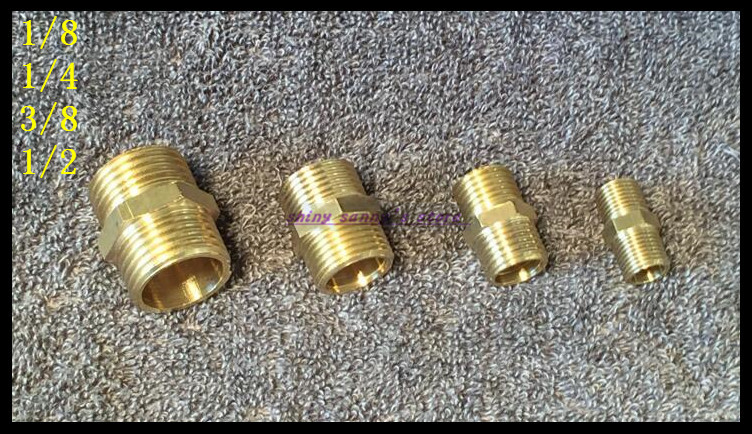 15Pcs/Lot 1/2 BSPP Connection Straight Male Pipe Brass Adapter Coupler Connector 15pcs lot 8 03 8mm 3 8 bsp 2 ways male barbs elbow hose brass pipe adapter coupler