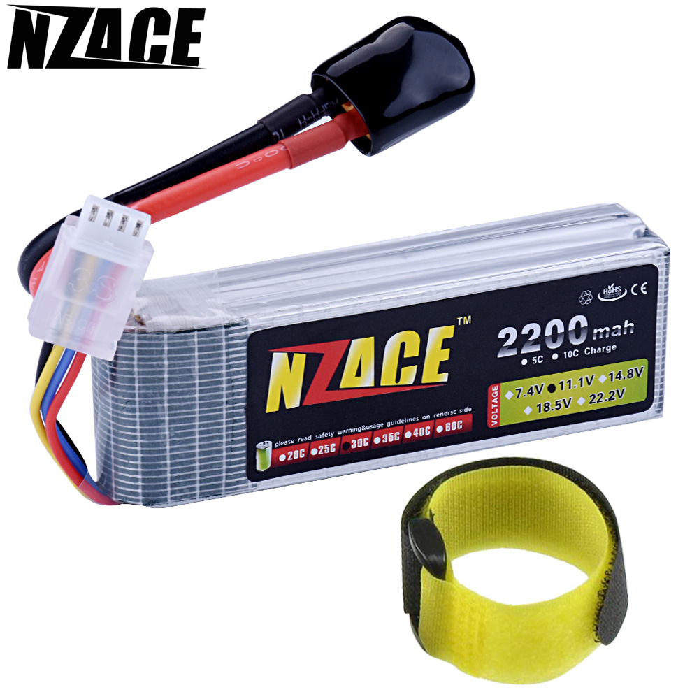 NZACE Lithium Li-polymer Lipo Battery 3S 11.1V 2200Mah 30C XT60 Plug for RC Helicopter Qudcopter Car Airplane Bateria Lipo wholesale 504260 3 7v lithium polymer battery length 60 width 42 thickness 5mm