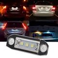 1 Пара Белый 5050 SMD 3 LED Количество Освещение Номерного Знака Для Volvo XC60 XC70 V50 C70 V70 S60 Авто Внешние Номерного знака свет