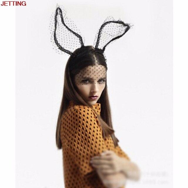 meilleures baskets techniques modernes en gros € 2.2 30% de réduction|JETTING 1pc nouveauté Sexy noir yeux cheveux  accessoires masque lapin oreille voile lapin oreille bandeau femmes  dentelle Sexy ...