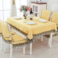 European Style Thicken Tablecloth For Wedding Party 13pcs/set Table Chair Cover Set Luxury Table Cloth Quality Hotel Tablecloths