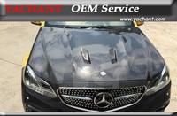 Car Styling Full Carbon Fiber FCF Hood Bonnet Fit For 2013 2015 Mercedes Benz W212 BS Style Hood Bonnet