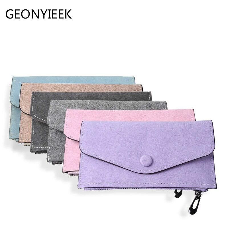2018 Luxury Women Wallet PU Leather Long Solid Zipper Wallet Money Bag Coin Purse Female Credit Card Holder Long Lady Clutch