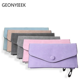 2018 Luxury Women Wallet PU Leather Long Solid Zipper Wallet Money Bag Coin Purse Female Credit Card Holder Long Lady Clutch