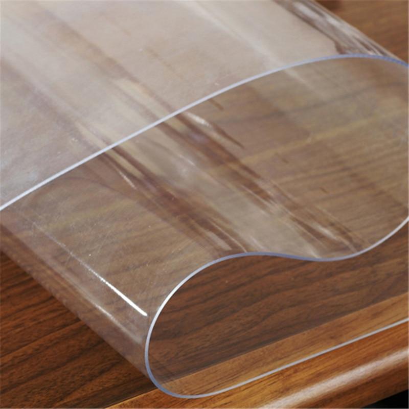 PVC Étanche Oilproof Nappe Propre Transparent Couverture de Tissu ...