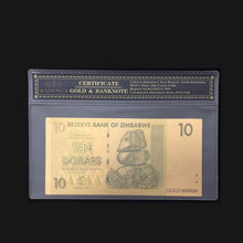 2018 горячая Распродажа цветная банкнота из Zimbabwe вийского банкнота 10 долларовая Золотая банкнота в 24k Золотая Банкнота с рамкой COA для сбора и ...