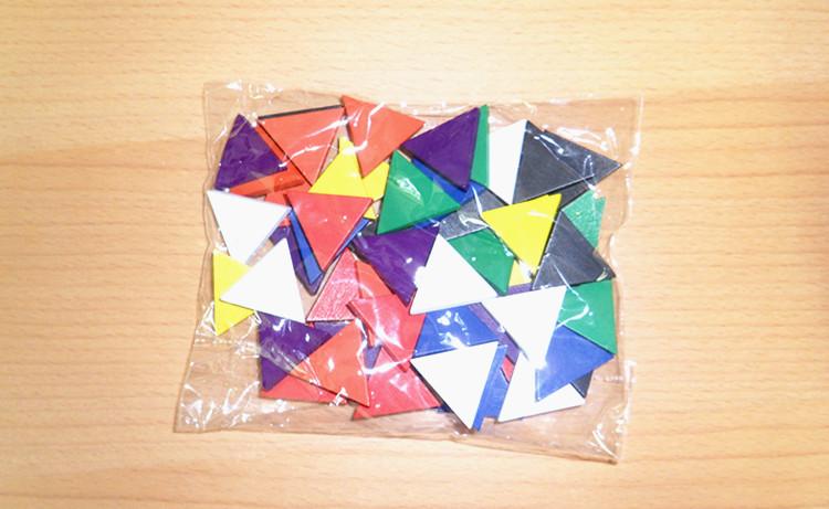 envo gratis unids mixtos colores tringulo equiltero de madera del juego de piezas para