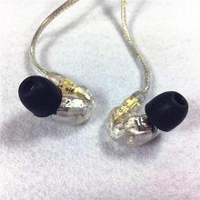 Boa qualidade! Melhor se215 earphons hi-fi estéreo cancelamento de ruído 3.5mm se 215 na orelha detchabl fone de ouvido com caixa vs se535