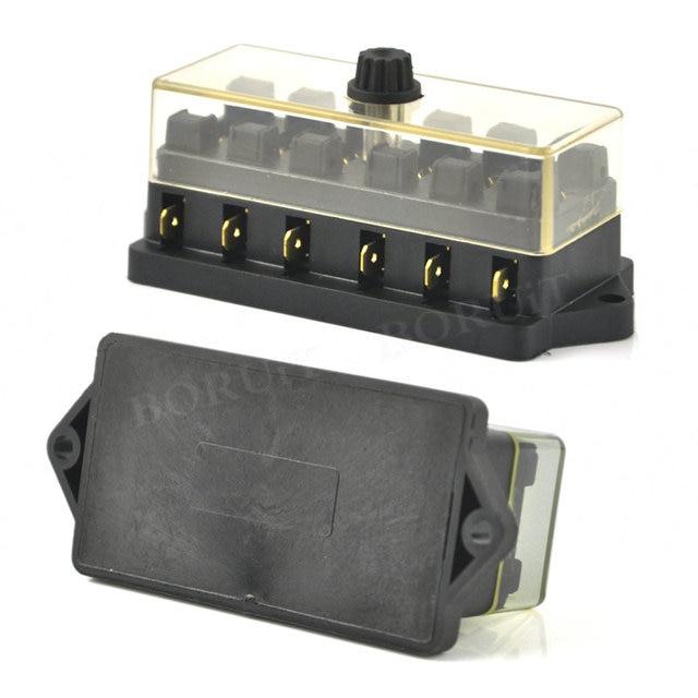 universal 12v 24v 6 way fuse box block fuse holder box car vehicle circuit automotive  blade car fuse accessory tool hot selling