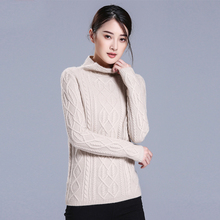 new arrive 2016 winter sweaters Europe and America semi-high neck twist rope long-sleeve pure cashmere women pullovers 1133
