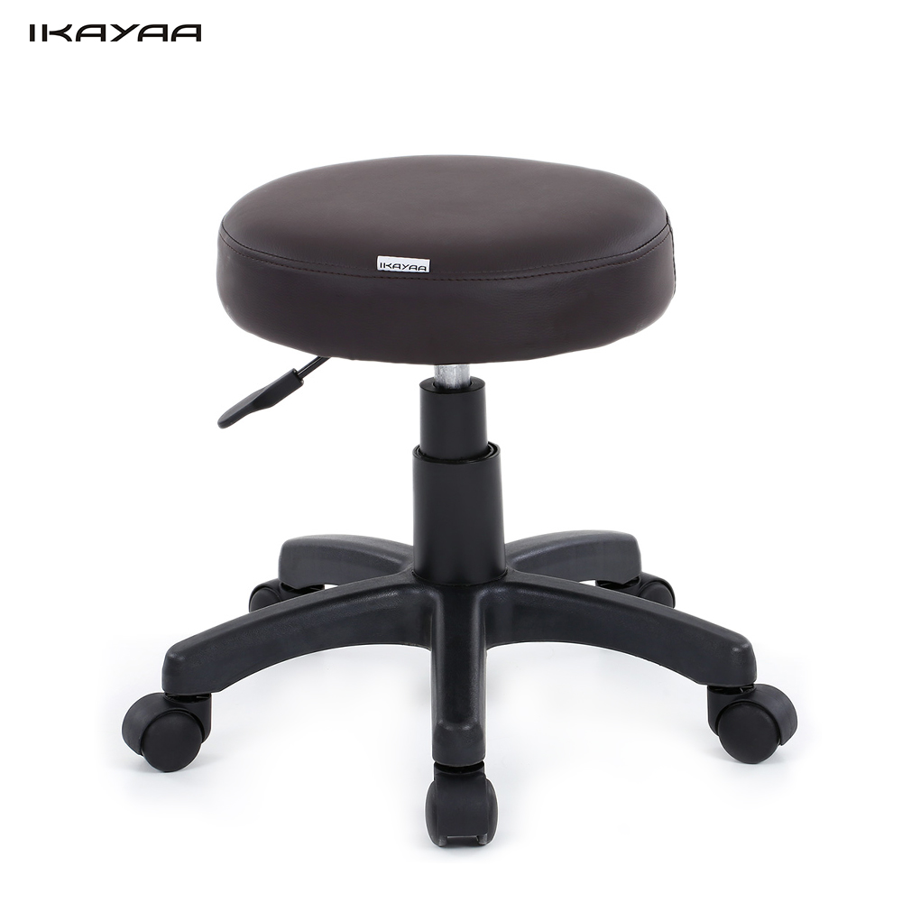 Ikayaa Pu Leather Swivel Bar Stool Height Adjustable