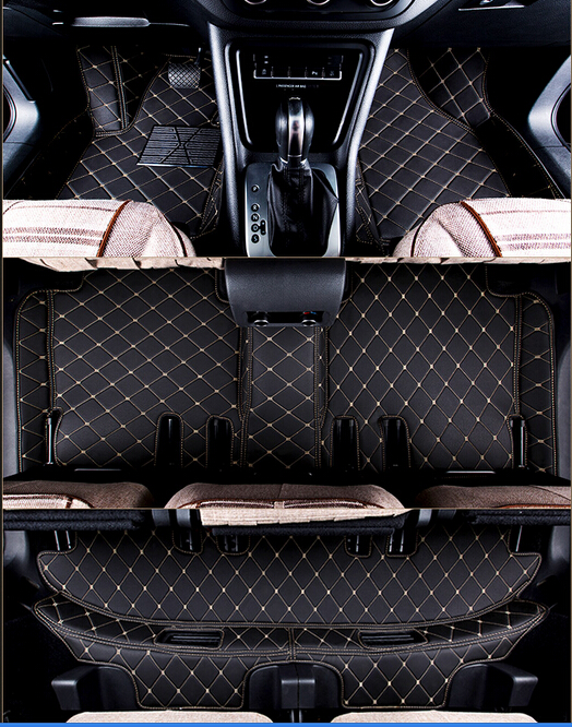 Good quality! Custom full set car floor mats for Audi Q7 7seats 2014-2006 waterproof non-slip carpets for Q7 2011,Free shipping