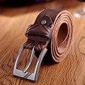 2016 Nueva Correa de Los Hombres de Banda de Cintura de La Vendimia Real del Perno del Cuero hebilla Hombres Cinturones de Lujo Designe Marca ceinture homme lujo marca W244