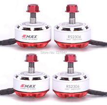 4pcs Lot Original Newest EMAX RS2306 2400KV Motor 3 4S for FPV RACER Quadcopter RC Drone