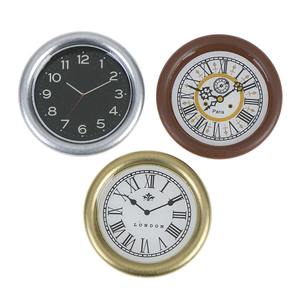 1:12 Scale Resin Dollhouse Miniature Wall Clock Play Doll House Miniaturas Home Decor Accessories Toy Pretend Play Furniture Toy(China)
