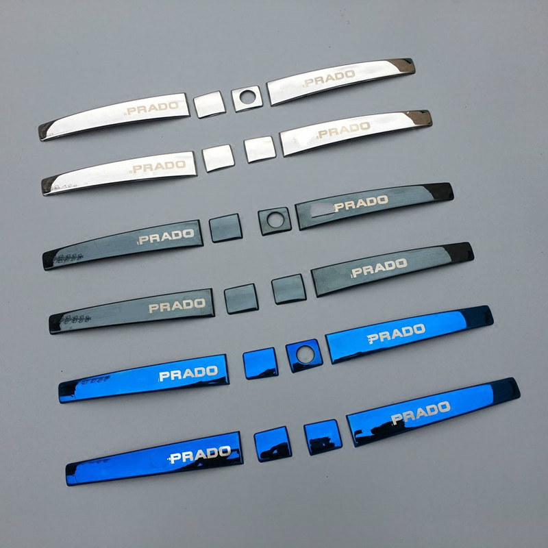 3 Colors Car Stainless Steel Door Handle Styling Cover Protection Trim for <font><b>Toyota</b></font> <font><b>Land</b></font> <font><b>Cruiser</b></font> <font><b>Prado</b></font> <font><b>FJ150</b></font> Accessories 2010-2017 image