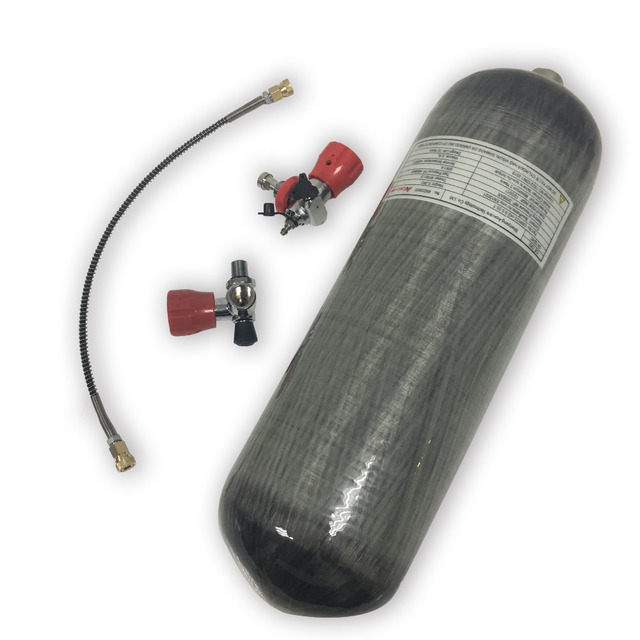 AC109101 Acecare 4500Psi Carbon Faser PCP Zylinder 9L CE Paintball Tank Mit Ventil & Füllung Station Adapter Airsoft Airforce Gun