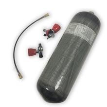 Ac109101 acecare 4500psi 탄소 섬유 pcp 실린더 9l ce 페인트 볼 탱크 밸브 및 충전 스테이션 어댑터 airsoft airforce gun