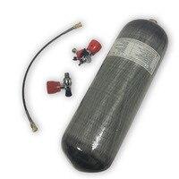 Acecare цилиндр сжатого воздуха из углеродного волокна 9L CE с воздушным клапаном и заполняющей станции адаптер AC109101