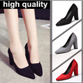 9cm size 34-40 Pointed Toe women banquet Pumps lady Wedding Party Shoes leather Casual Canvas dancing party high heels G05