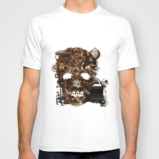 Vintage Steampunk Skull New Short Sleeve shirts