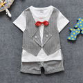 Newborn baby suits Baby Boys Clothes Gentleman Suit Clothing Wedding Birthday suits cotton bow T-shirt + pants Free shipping