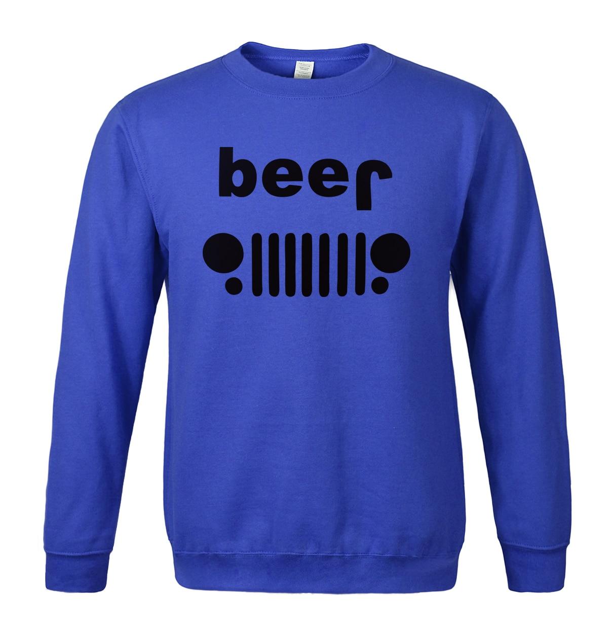 Sweatshirt 2018 spring winter printed BEER fashion hoodies cool car-styling mens sportswear brand-clothing sweashirts men