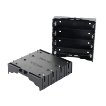 30pcs/lot MasterFire New Black Plastic Battery Storage Box Holder Cover Case Pin For 4 x 18650 Rechargeable Batteries