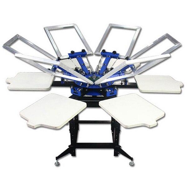 6 цвета высокого качества шелка ручной экран печатная машина с сушилкой для футболки печать