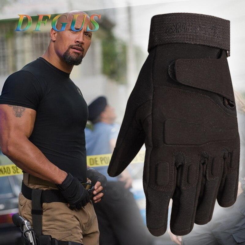 Guantes tácticos para hombre, guantes tácticos militares de la policía del ejército, guantes de Paintball para deportes al aire libre, guantes tácticos para mujer